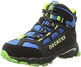 Dockers by Gerli Unisex-Kinder 41BS703-637163 Combat Boots, (Schwarz/Royal), 35 EU