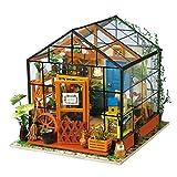 LoKauf Robotime Puppenhaus Miniature Garten DIY Dollhouse Kit 3D Puzzle Puppenhaus mit Licht