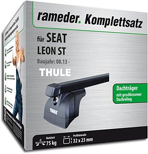 Rameder Komplettsatz, Dachträger SquareBar für SEAT Leon ST (116435-11484-2)