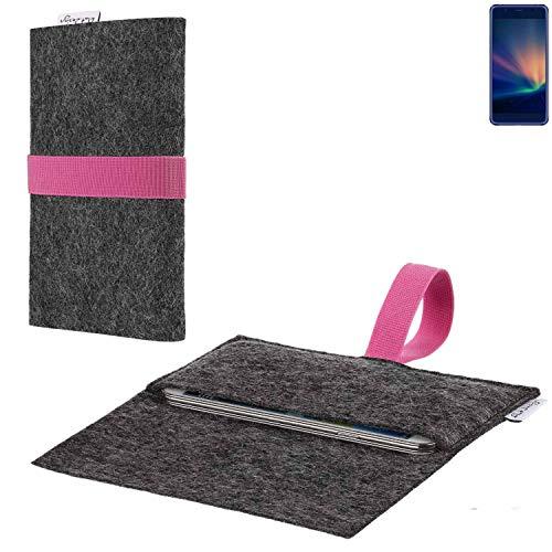 flat.design vegane Handy Hülle Aveiro für Hisense A2 Pro passgenaue Filz Tasche Case Sleeve Made in Germany
