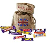 British Foods Worldwide Cadburys Gift Box | 10 Cadburys Bars: Picnic, Flake, Crunchie, Wispa, Star Bar, Curly Wurly, Dou