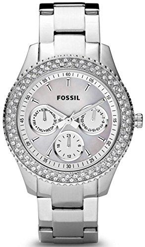FOSSIL Multifunktionsuhr, Fossil, »ES2860« weiß, Größe