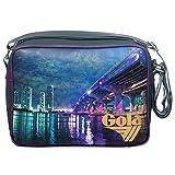 Gola Borsa a Tracolla Midi Redford Miami Bridge CUB467 Unisex (Gry/Grape/Gold)