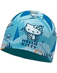 Buff Hello Kitty Mircofiber and Polar Hat Accesorio para la Cabeza, Niña, Ski Day Turquoise/Blue Capri, Medium