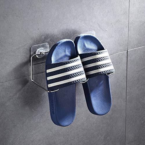 CHLCH Edelstahl Bad Hausschuhe Rack Bad einfache Tür Wand hängen Schuhregal-01 23 * 8,5 cm - Malibu-set Bett