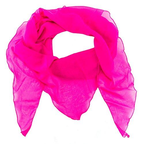 ManuMar Dreiecks-Schal für Damen | feines Hals-Tuch mit Unifarben als perfektes Sommer-Accessoire | Dreiecks-Tuch in pink - Das ideale Geschenk für Frauen