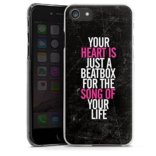 Apple iPhone X Silikon Hülle Case Schutzhülle Herz Musik Liebe Hard Case transparent