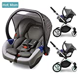 Hot Mom Autoschale Group 0+ entspricht EU standard ECE44, kompatible mit hot mom Kinderwagen modell 889, Kinderwagen separat erhältlich