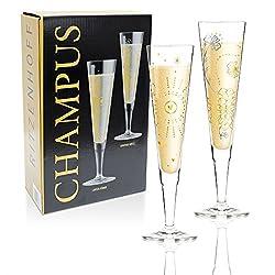 Ritzenhoff 2er-Set Design Champagnerglas - Sektglas Carolin Körner & Dorothee Kupitz