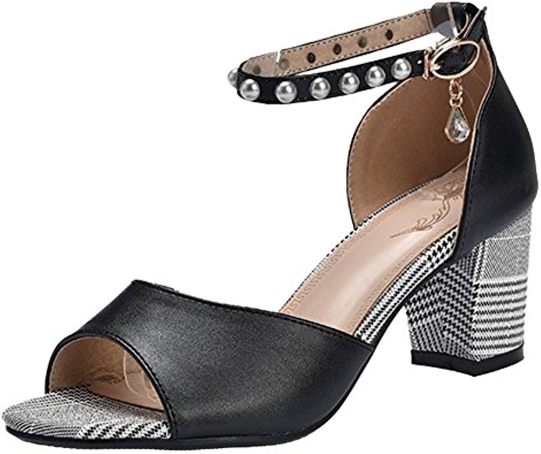 COOLCEPT Damen Mode Blockabsatz Sandalen 2018 Letztes Modell  Mode Schuhe Billig Online-Verkauf
