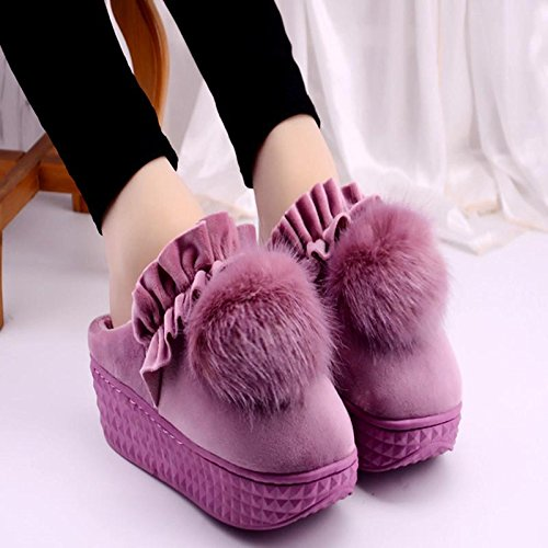 LaxBa Femmes Hommes Chaussures Slipper antiglisse intérieur Rose pourpre