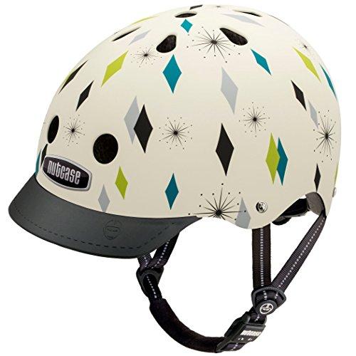 Nutcase - Straßen Fahrradhelm, Passt auf deinen Kopf, Passt zu deiner Seele - Diamond Daze Matte, Mittel