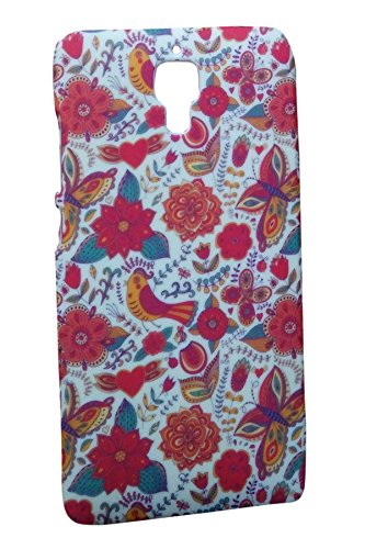 Floral Fashion Designer Print Snap-On Hard Slim Back Flexible Bumper Case Cover For Xiaomi India Mi4  available at amazon for Rs.149