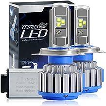 Win Power Kit de conversión todo en uno con bombillas LED CREE para faros delanteros – H4 HB2 9003 – 7200 lm, 80 W, 6000 K, luz blanca fría – Pack de 2