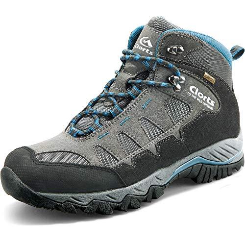 Clorts, Chaussures Montantes pour Homme - - Gris foncé/Bleu, 39 EU