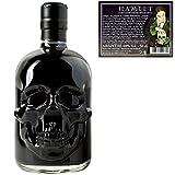 Schwarzer Absinth Hamlet Black   Mit Wermut/Thujon   69%   Totenkopf Flasche   (1x 0.5 l)