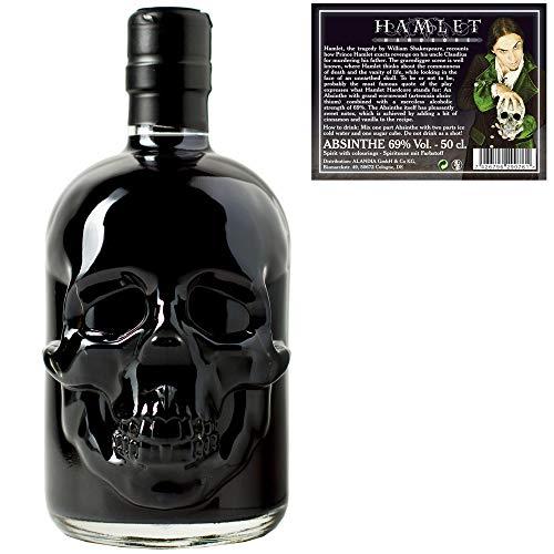Schwarzer Absinth Hamlet Black   Mit Wermut/Thujon   69{83f34a4f5e1cd83f6f290c955743d5bad317249b6a669a6c7a546b0e6f6a9682}   Totenkopf Flasche   (1x 0.5 l)