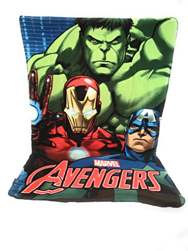Avengers marvel copertina in pile – plaid in pile bambini – 140 x 100 cm – sublimation double face – 170 gr/m2 hulk – ironman – captain américa