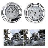 Ictronix Universal Motorraduhr Uhr Uhren Motorrad Lenker Thermometer Temp 25