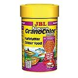 Novo JBL Grano Color 30097 Alleinfutter für kleine farbenprächtige Aquarienfische, Nachfülldose Granulat 100 ml,