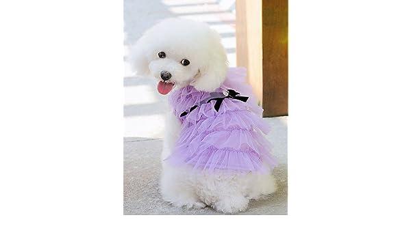 c6969f7856fa3 AI NI Dresses for Dogs White   Pink   Purple Summer Wedding XS   S   M   L    XL Cotton   Terylene