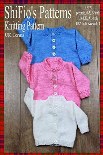 Knitting Pattern Kp172 Baby Cardigans Preemie 0 3mths 3