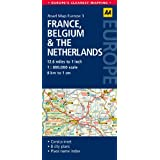 AA Road Map France, Belguim & the Netherlands (Road Map Europe 3) (AA Road Map Europe)