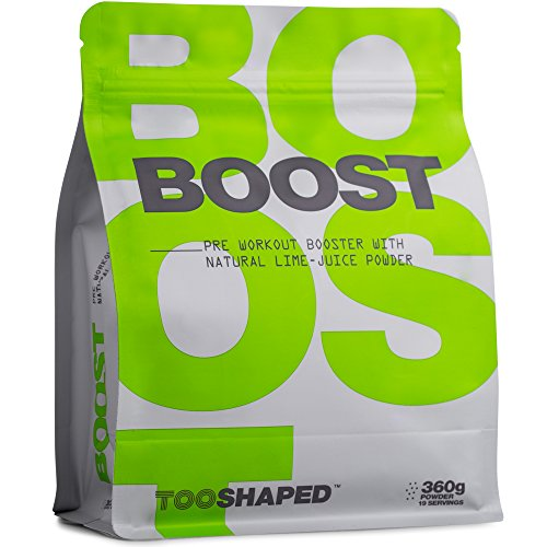 51X73XjVRXL. SS500  - BOOST - Pre Workout Powder with BCAA, beta alanine, L-citrulline, caffeine, and more - more pump, energy and endurance from TOOSHAPED (360 g powder)