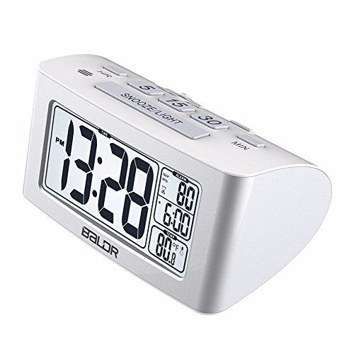 Shuangklei Lcd-Digital-Nap-Timer Temperatur Anzeigen Sehen Sie Weiße Hintergrundbeleuchtung Thermometer Schlafzimmer Snooze Wecker