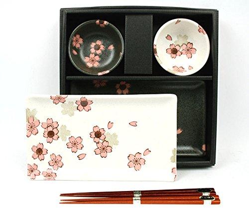 Japanisches Sushi-Set SAKURA NISHU aus Porzellan
