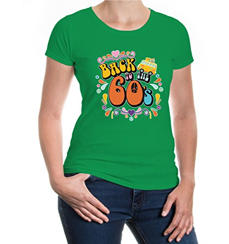 buXsbaum® Girlie T-Shirt Back to the 60s Kellygreen-z-direct