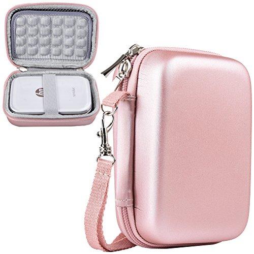SAIKA Stoßfest Tragetasche Lagerung Reisetasche für HP Sprocket Fotodrucker Notebook Drucker / Polaroid ZIP Mobile Drucker Schutzhülle Box (Gold2)