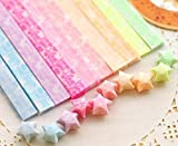 Panlom® Kits Loisirs Créatifs Bande Papier Etoile Origami Lumineuse Glows in the dark - Love - 300 Feuilles