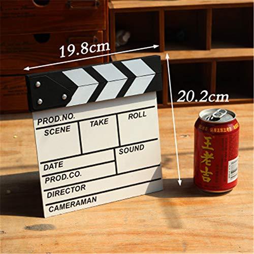 TzzorYdecoration Hölzerner Filmklöppel Direktor Bordschmuck Ornamente Taobao Schießen Requisiten Englisch Brett Spielbrett Größe optional (Größe Spielbrett Leben)