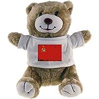 Oso de peluche con bandera de la URSS retro Beige