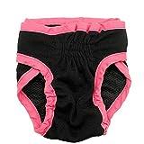 ETbotu Dog clothes,Female Pet Dog Hygiene Diaper Pants,Nappy Pants - Female Breathable Physiological Pants for Small Meidium Pets Dogs black XS
