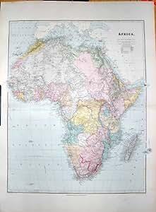ESPOIR 1904 DE CAP DE L'AFRIQUE MADAGASCAR DE CARTE DE STANFORD BON