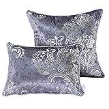 Nunubee Kissenbezug Europäischer Stil SAMT bronzierendes Material Dekoration deko Kissen deko Wohnzimmer Autodekoration Sofa Cover, Grau 60x60cm
