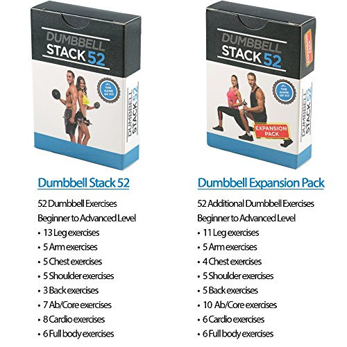 Stack-52-Dumbbell-Exercise-Cards-Strength-Dumbbell-Workout-Playing-Card-Game-Video-Instructions-Included-Perfect-Training-Adjustable-Dumbbell-Free-Weight-Sets-Home-Gym-Fitness-Dumbbell-Duo-Pack