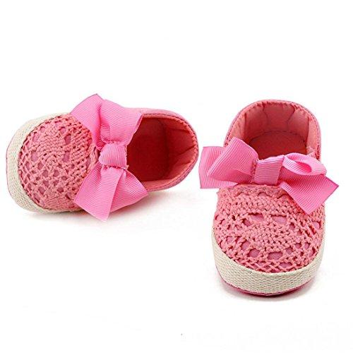 Hunpta Kleinkind Mädchen weichen Sohle Krippe Schuhe Sneaker Babyschuhe (Alter: 0 ~ 6 Monate, Hot Pink) Hot Pink