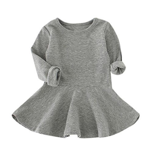 Candy Farbe Langarm Solide Prinzessin Casual Kleinkind Kinder Kleid (Kleinkind Kostüm Candy)