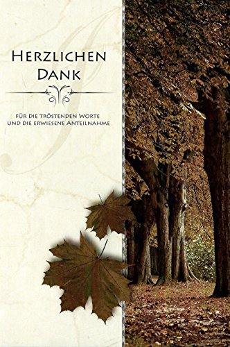10 Danksagungskarten Trauerkarten mit Umschlägen Motiv Wald / Laub Trauerkarte Trauer Danke (K/H34)