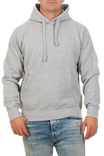 Happy Clothing Herren Pullover mit Kapuze Pulli, Größe:S, Farbe:Grau meliert