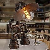 Unbekannt Set Tischlampe-Wasserrohr Eisen Lampe Dorf Industrie Hotel Restaurant Bar Tisch Tisch Amerikanischen Lampe
