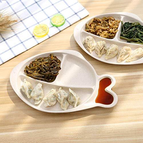 Yongse Assiette de collations pour Restauration Rapide en Forme de Poisson de Paille de blé Creative Creative