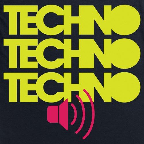 Techno Techno Techno T-Shirt, Herren Schwarz