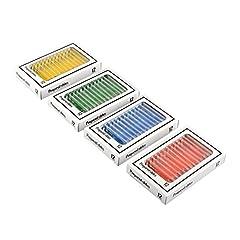 Idea Regalo - Tiptiper 48 pezzi Bambini Plastica Microscopio preparato Scivoli di insetti Piante Fiori Campioni di campioni per microscopi stereo