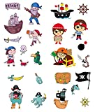 AllRing Piraten Tattoo Set 25 Kindertattoos Verschiedene Piraten Motive Kinder Spielen