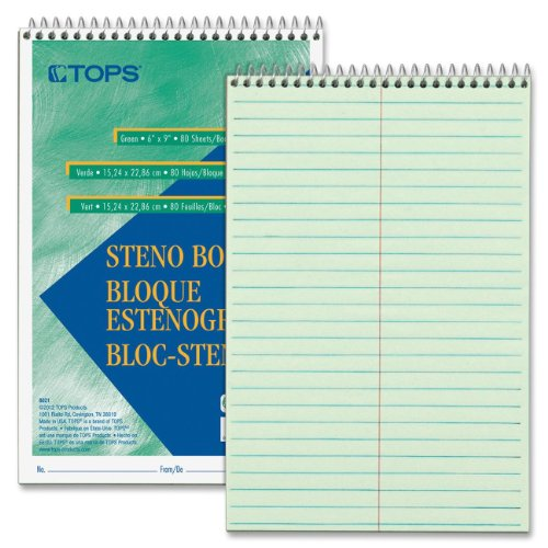 gregg-steno-books-6-x-9-green-tint-80-sheet-pad