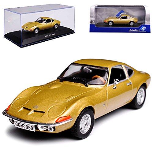 Solido Opel GT Coupe Gold Metallic 1968-1973 1/43 Modell Auto mit individiuellem Wunschkennzeichen